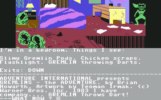Gremlins - The Adventure von 1985, (Bild: Adventure International, C64)