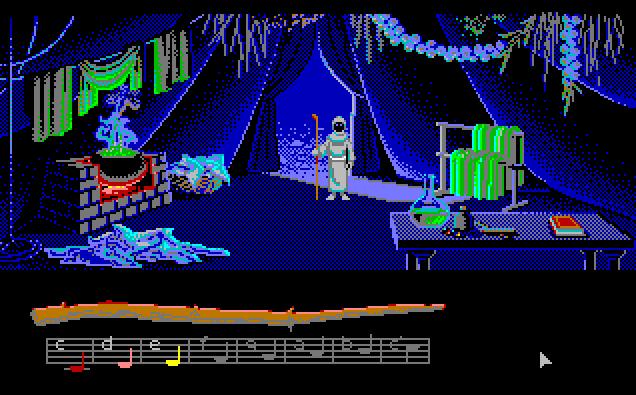 Loom von 1990. (Bild: Lucasfilm Games, Amiga)