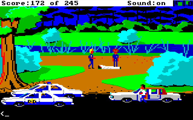 Police Quest: In Pursuit of the Death Angel von 1987. (Bild: Sierra On-Line, Amiga)