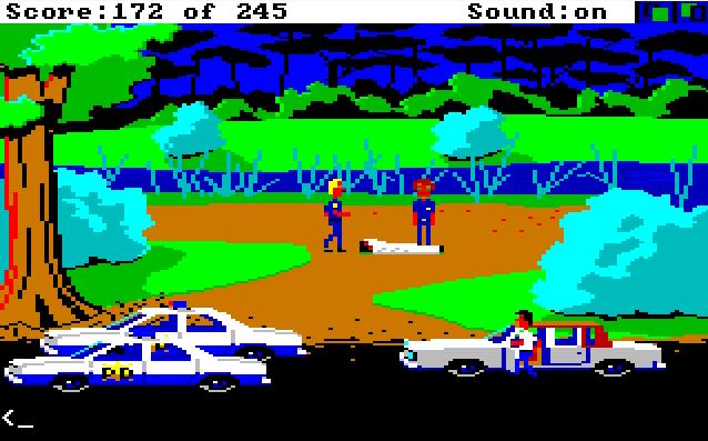 Police Quest: In Pursuit of the Death Angel von 1987. (Bild: Sierra On-Line, Amiga)