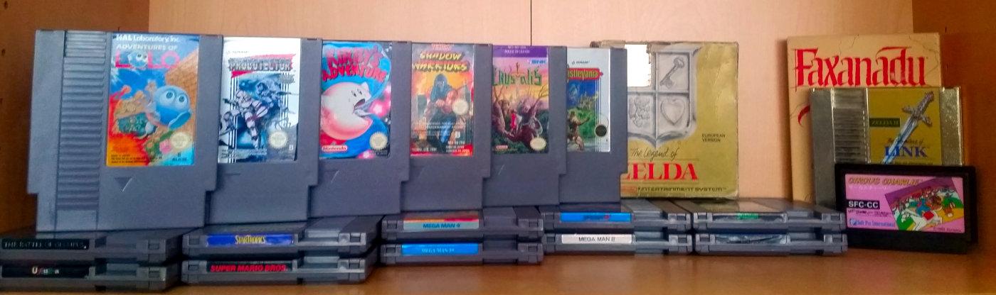 Das NES hat in den 90ern mein Interesse für Konsolen geweckt. Erst seit 2007 sammle ich Spiele dafür. (Bild: Christian Serra)