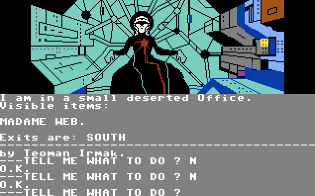 Questprobe: Spider-Man von 1984. (Bild: Adventure International, C64)