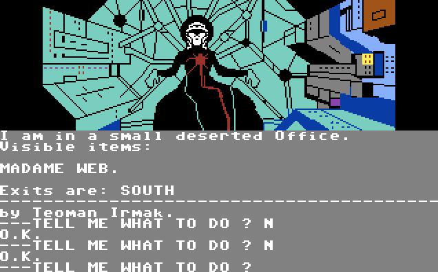 Questprobe: Spider-Man von 1984. (Bild: Adventure International, C64)