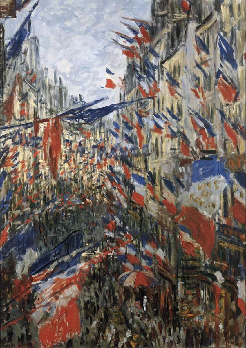 La Rue Saint-Denis, Claude Monet, 30.06.1878, Öl auf Leinwand, 76 x 52 cm (Bild: Musée des Beaux-Arts, Lyon)