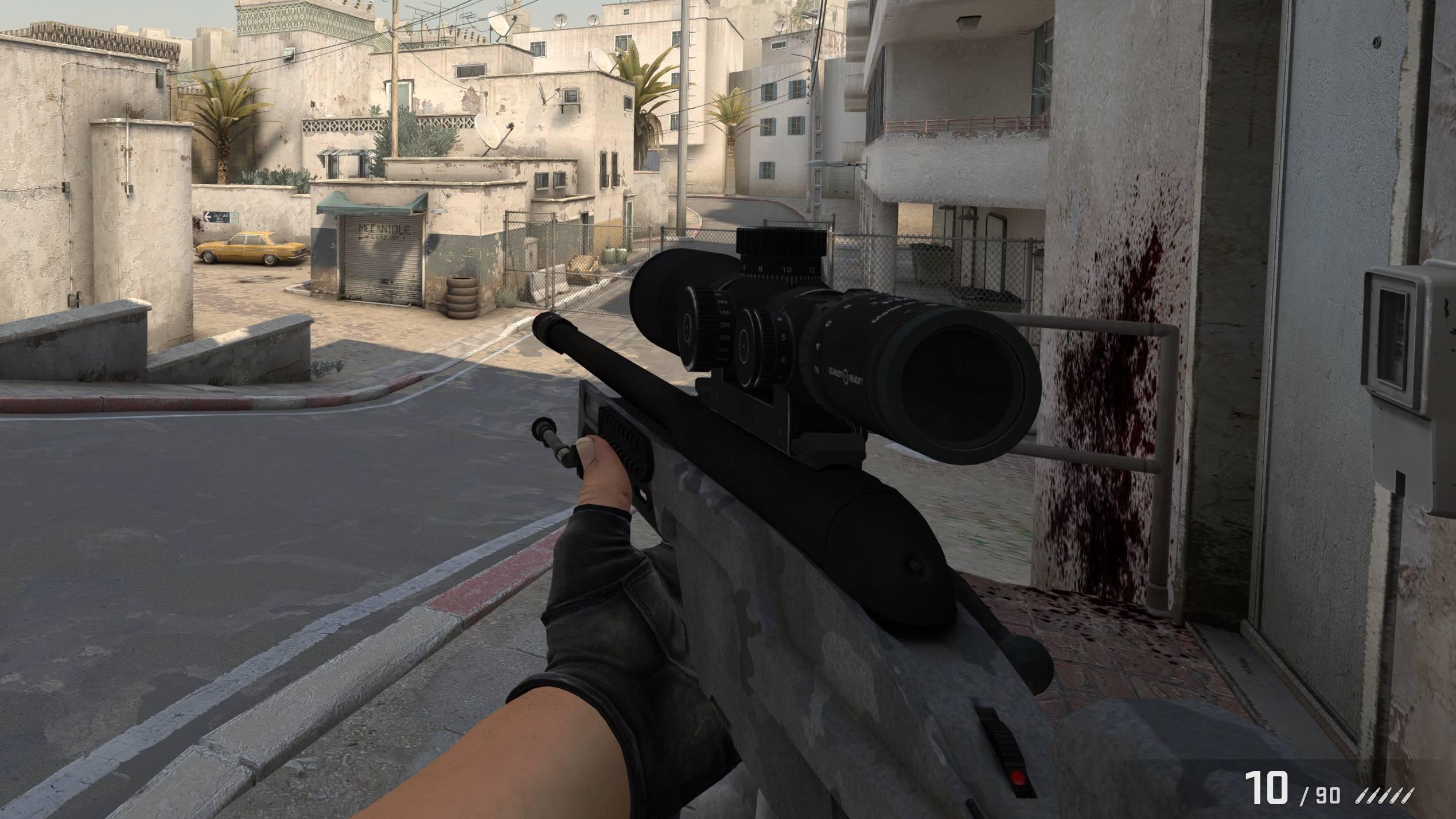 Bildausschnitt aus meiner Lieblingsmap Dust 2 als Terrorist. (Bild: Philipp)