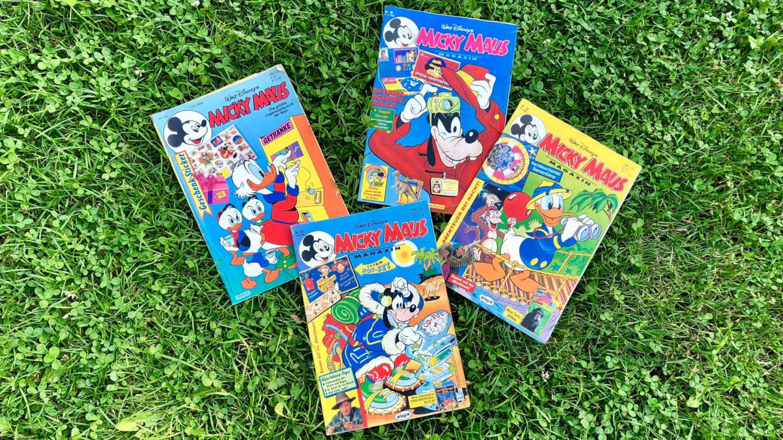 Videospiele-Anzeigen in Micky Maus Magazinen der 1990er Jahre
