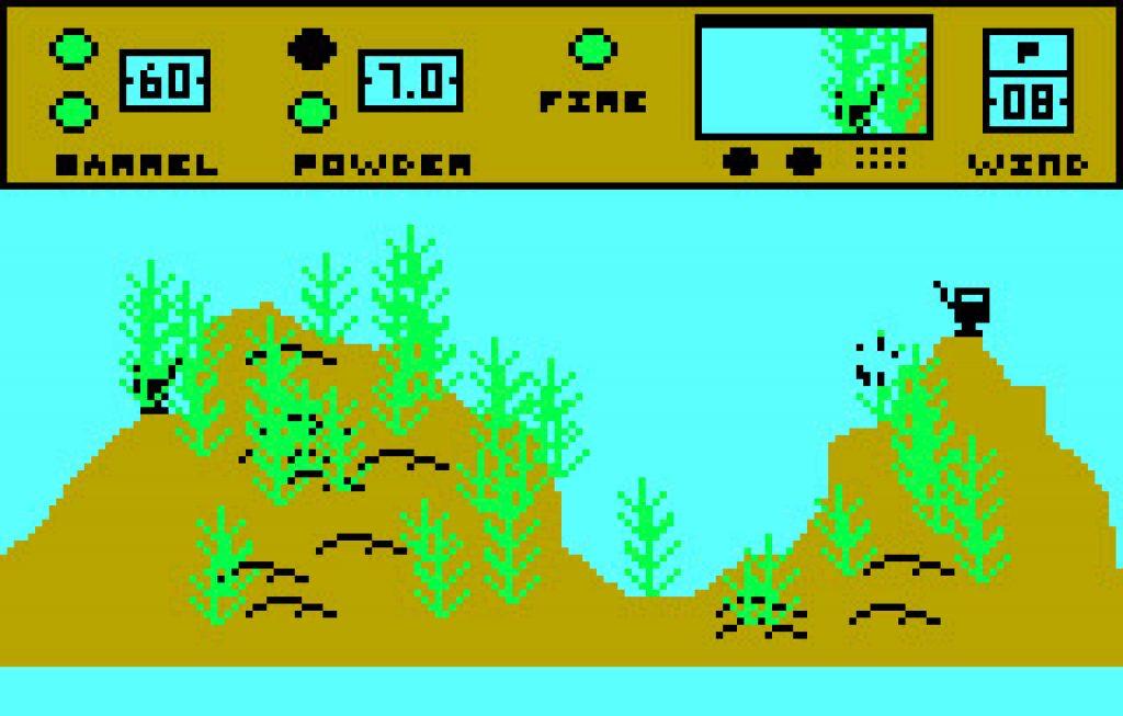 Artillery Duel auf der Ballys Astrocade Konsole war bereits 1982 grafisch recht ansprechend. (Bild: Bally)