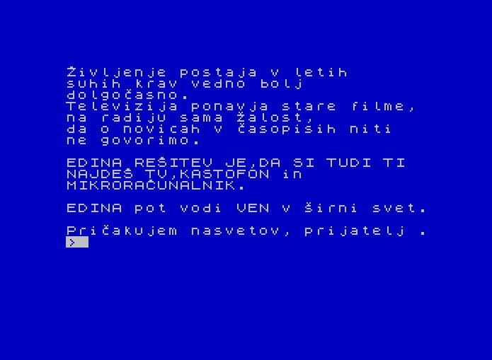 Kontrabant von 1984 (Bild: Radio Student, ZX Spectrum)