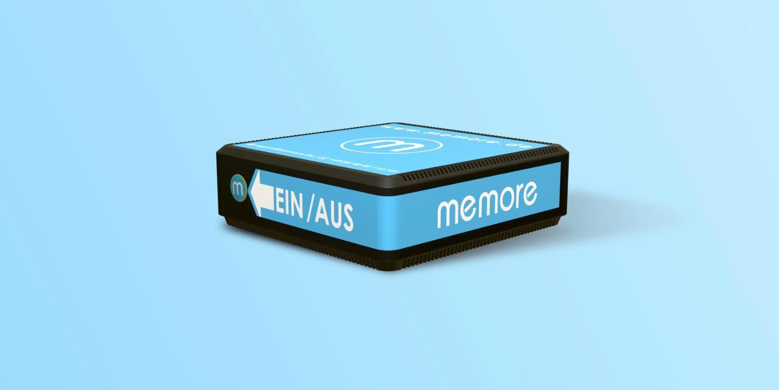 Das Design der memoreBox ist einfach gehalten. Es gibt nur einen An und Aus Knopf für eine leichte Handhabung. (Bild: Mandy Jerdes)