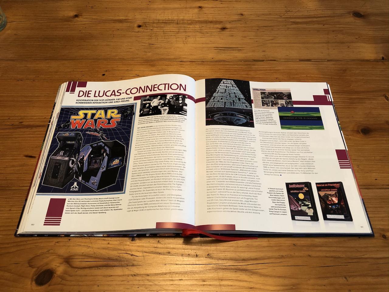 """Wie brachte man die Leinwand-Abenteuer von Luke und Leia auf die Spielkonsole oder den Heimcomputer? Im Kapitel """"Die Lucas-Connection"""", das es nur in der deutschen Ausgabe gibt, könnt ihr die Hintergründe erfahren. (Bild: André Eymann)"""
