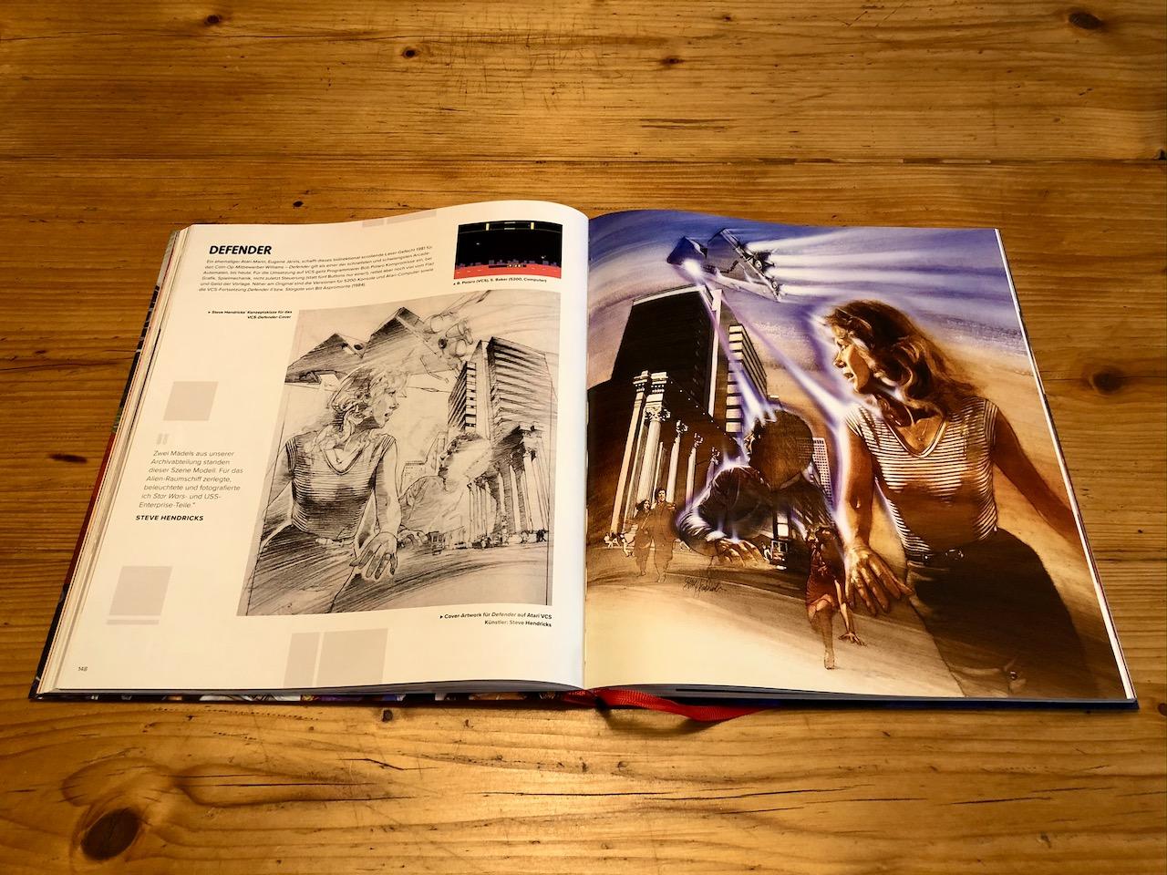 Die Heimumsetzung des knallharten Defender war sehr erfolgreich. Die Illustrationen zum Spiel gehören zu den kraftvollsten der Atari-Ära überhaupt. (Bild: André Eymann)