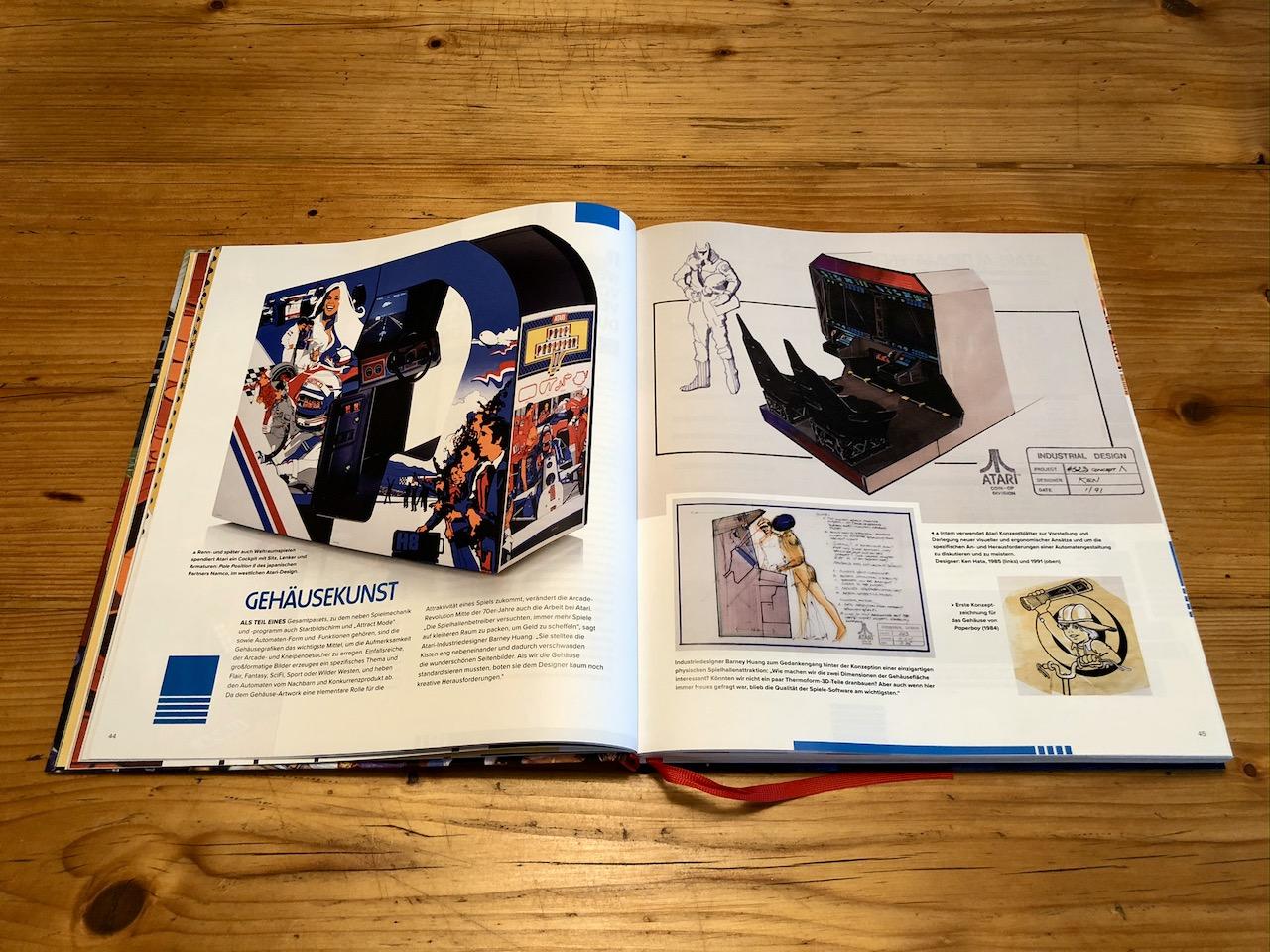 """Im Abschnitt """"Gehäusekunst"""" widmet sich das Buch der Schönheit und Faszination der Arcade-Automaten. (Bild: André Eymann)"""