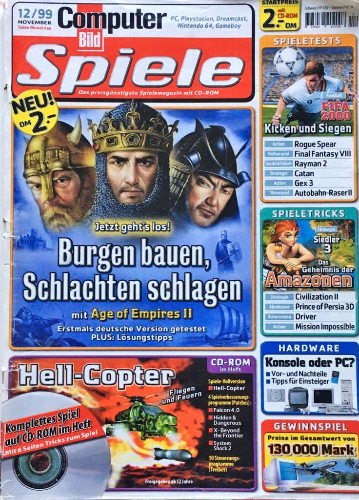 Das Cover der Computer Bild Spiele, Ausgabe 12/99. (Bild: Kevin Puschak)