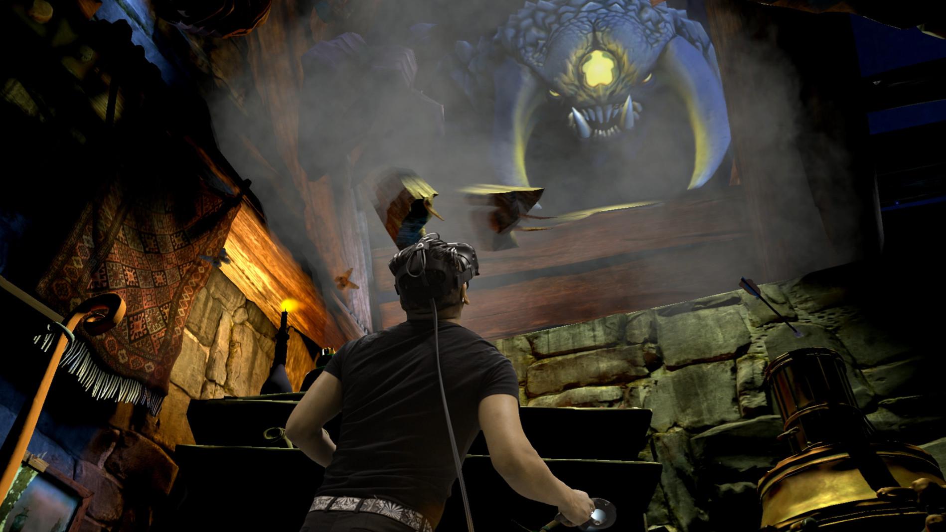 Spielszene aus The Lab. Das erste VR-Spiel von Valve aus 2016, das auch veröffentlicht worden ist. (Bild: Valve)