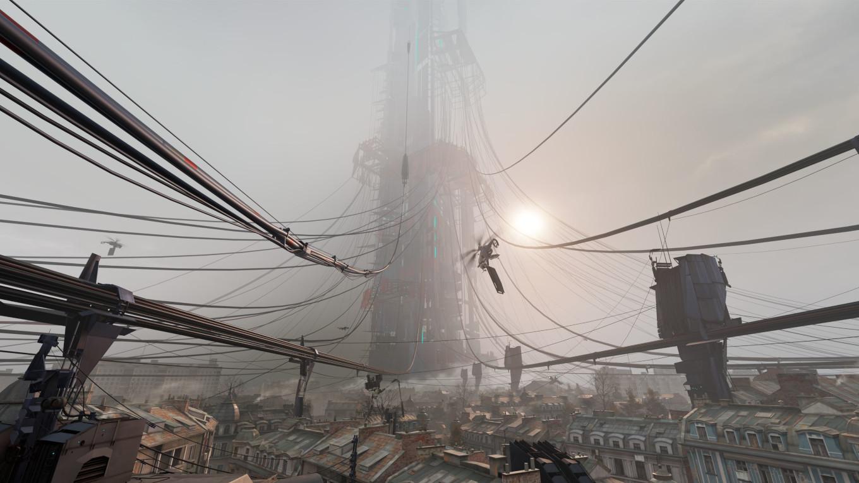 Im Herzen von City 17 entsteht die mächtige Zitadelle der Combine. (Bild: Valve)