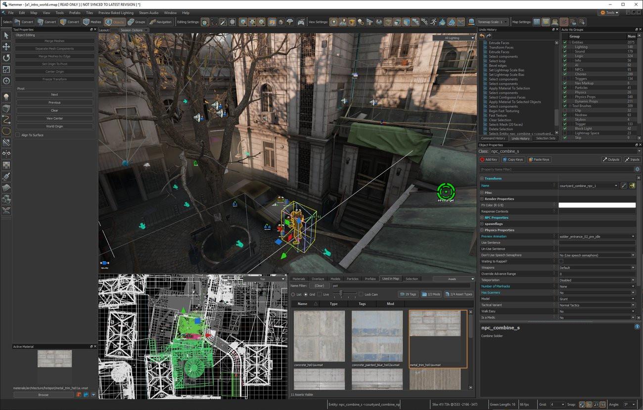 """Mit den für das Spiel verfügbaren Source 2-Werkzeugen können Spieler nach Herzenslust neue Level für die Community erstellen. Valves Leveleditor """"Hammer"""" wurde mit allen VR-Gameplay-Werkzeugen und -Komponenten aktualisiert. (Bild und Text: Valve)"""