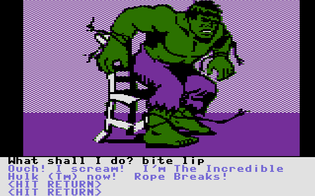 Questprobe: The Hulk von 1984 (Bild: Adventure International, C16)
