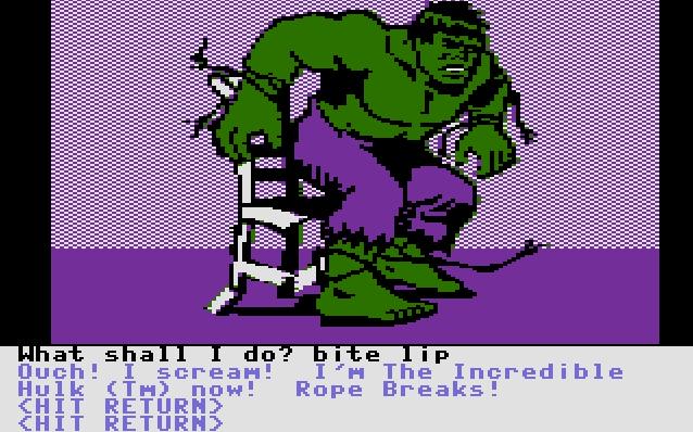 Questprobe: The Hulk von 1984 (Bild: Adventure International, C16)