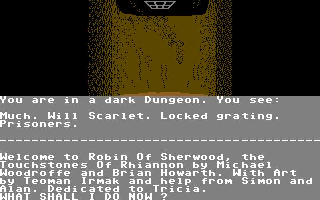 Robin of Sherwood - The Touchstones of Rihannon von 1985 (Bild: Adventure International UK, C64)