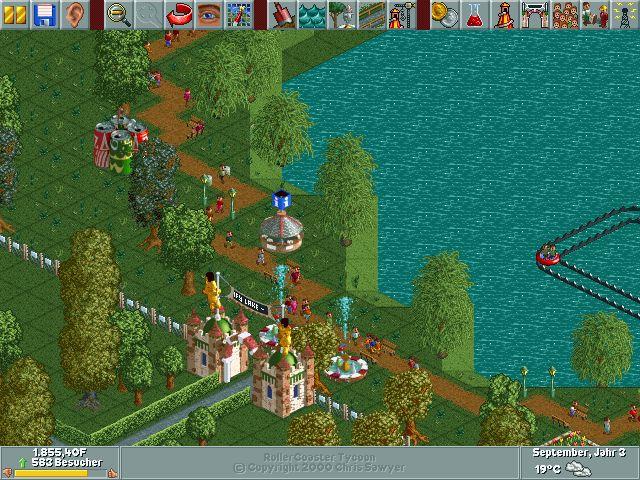 Willkommen im Park! Hier ist eurer Geld gut angelegt. (Bild: giga.de, Chris Sawyer, Hasbro Interactive)
