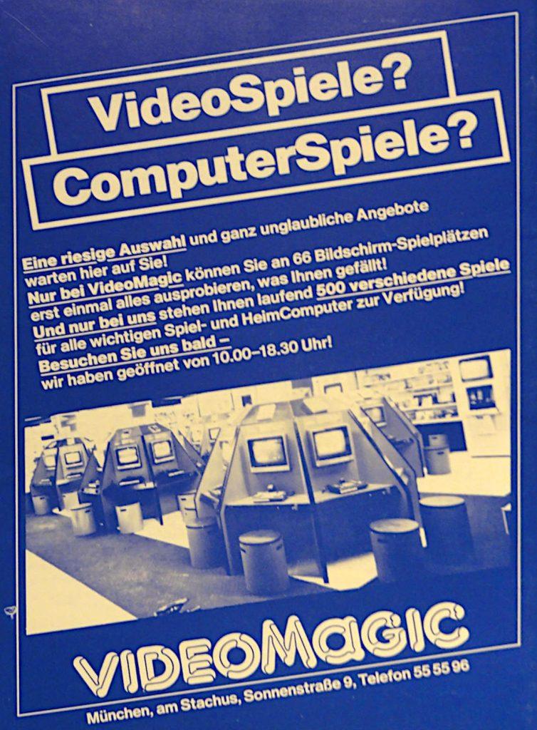 Ein Flyer (blaue Variante) von VideoMagic. (Bild: Guido Frank)