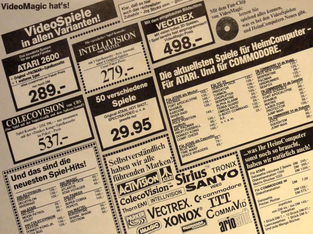 VideoMagic hat's! Auszug einer Anzeige mit Preisen. (Bild: Guido Frank)