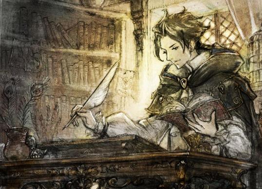 """Cyrus, der Gelehrte und """"Frauenheld"""" (Quelle: Square Enix)"""