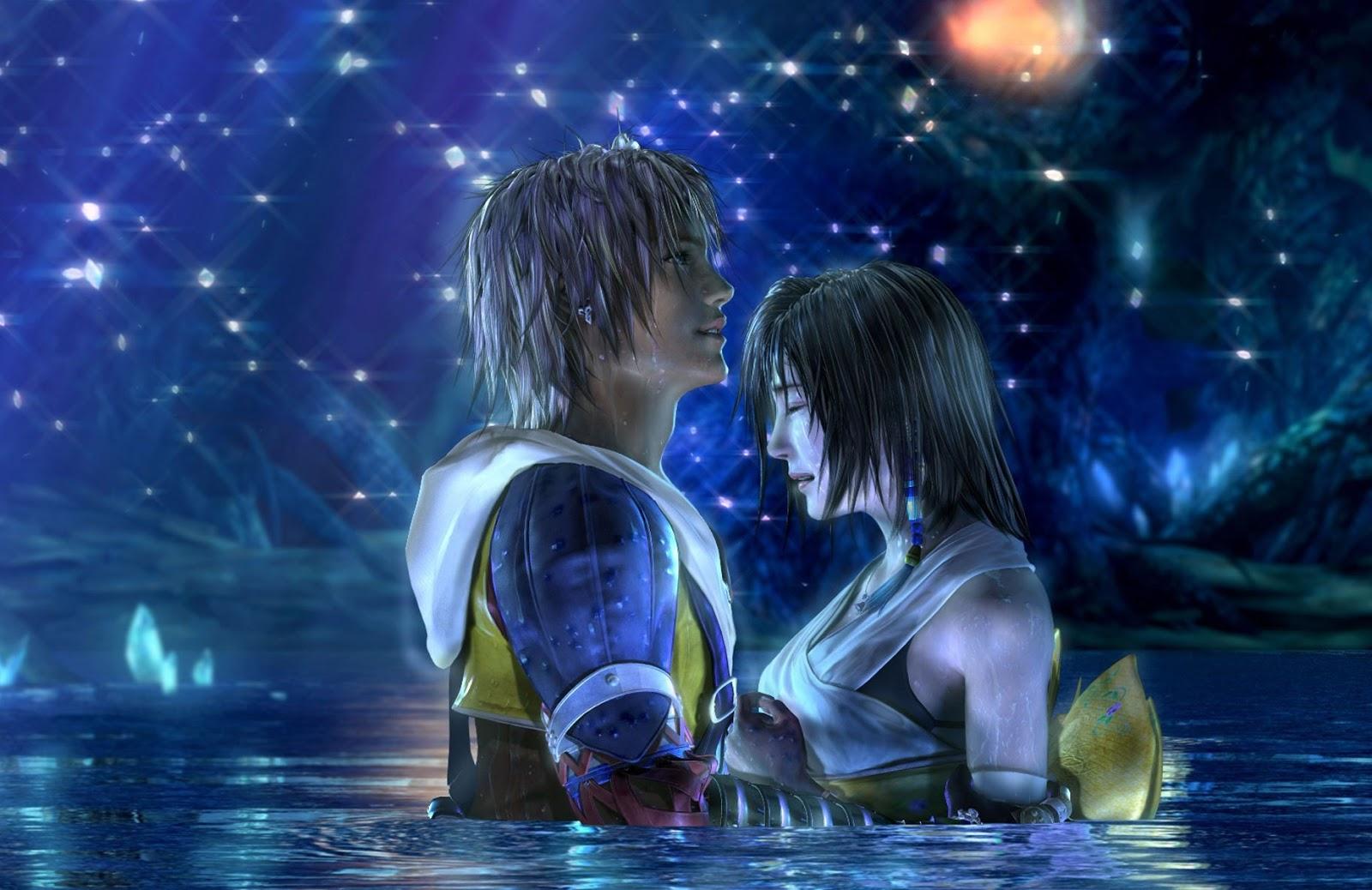 Die berühmte Wasser-Szene in Final Fantasy X (Quelle: Square Enix)