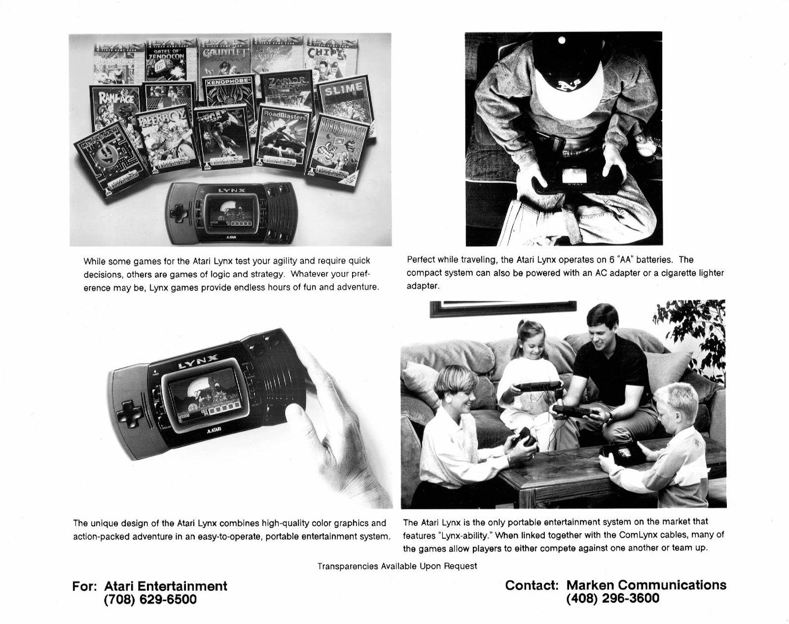 US-amerikanisches Pressematerial zum Atari Lynx. (Bild: Stephan Freundorfer)