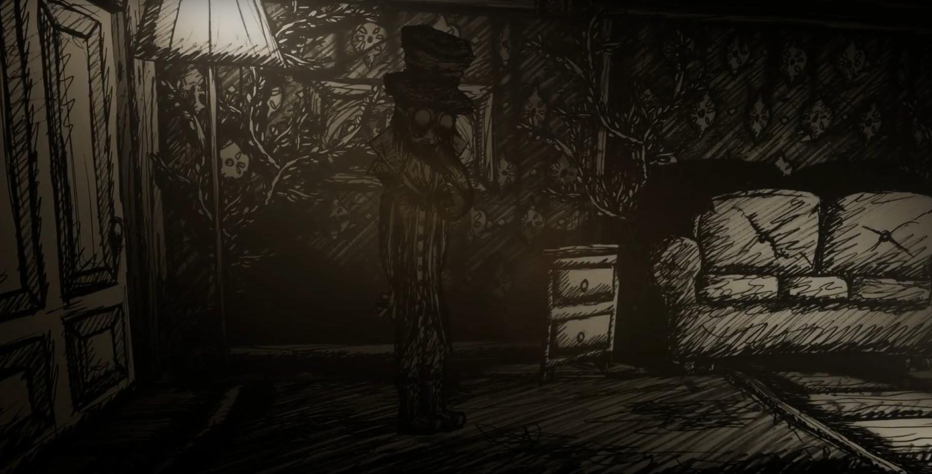 """Protagonist Lutum in seinem Wohnzimmer. Screenshot von """"My Friend is a Raven"""" - Two Star Games - 2019 (Bild: Two Star Games)"""