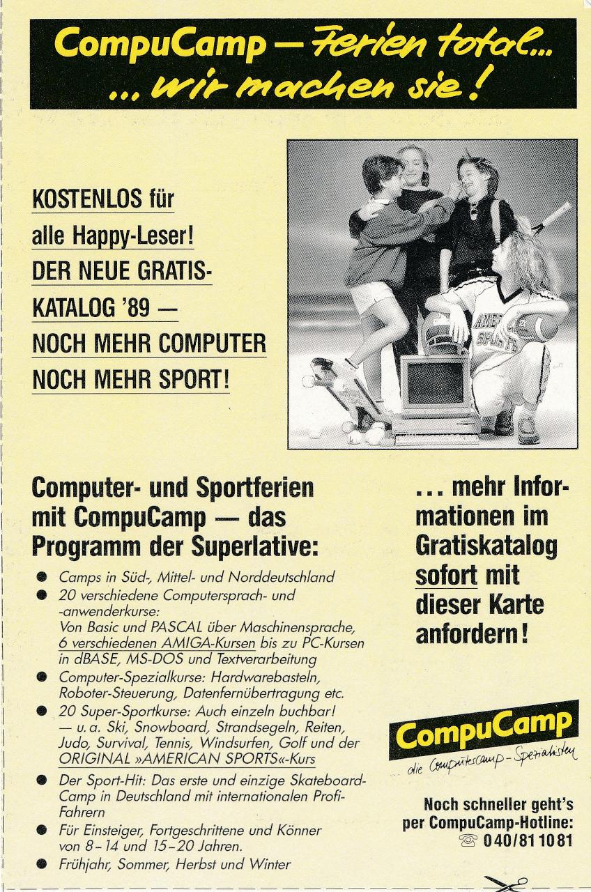 """Werbung von CompuCamp: """"Ferien total… wir machen sie!"""" (Bild: WEKA)"""