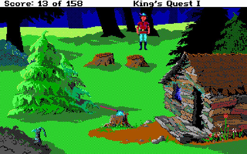 King's Quest I: Quest for the Crown von 1990, DOS. (Bild: mobygames.com)