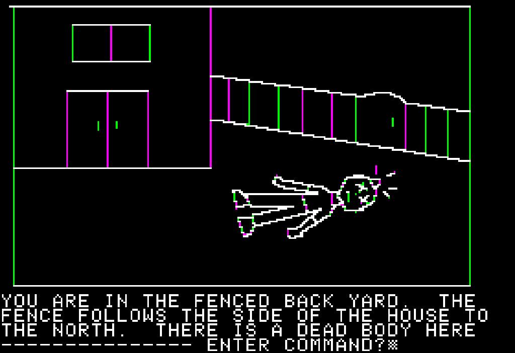 Mystery House von 1980 auf dem Apple II. (Bild: myabandonware.com)
