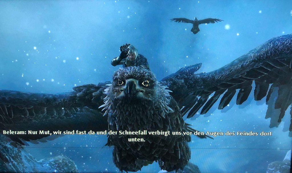 Mit den Adlern durch die Luft… (Bild: Lenny)