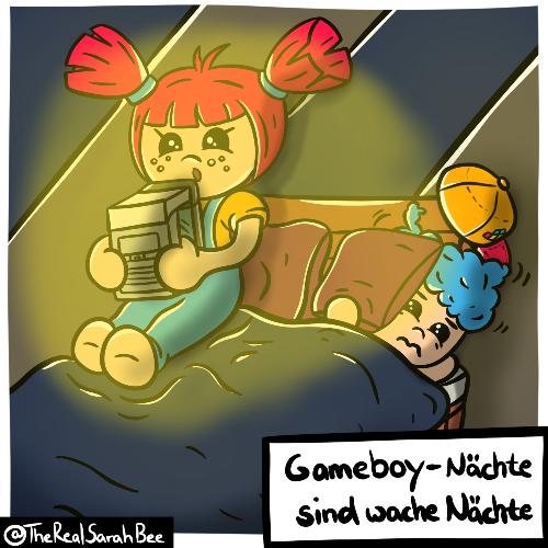 "Holly Hip #2 - ""Gameboy-Nächte sind wache Nächte"". (Bild: @TheRealSarahBee, September 2020)"