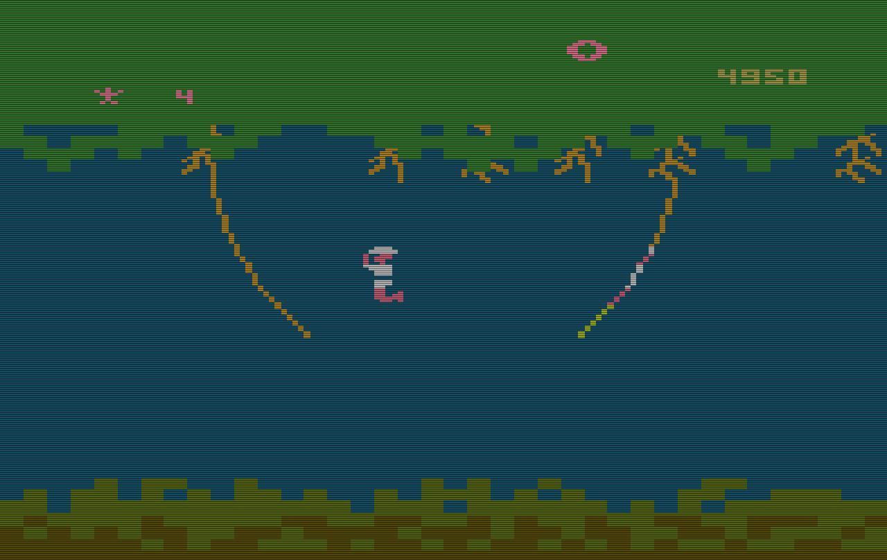 Level 1 von Jungle Hunt für das VCS. (Bild: Atari)