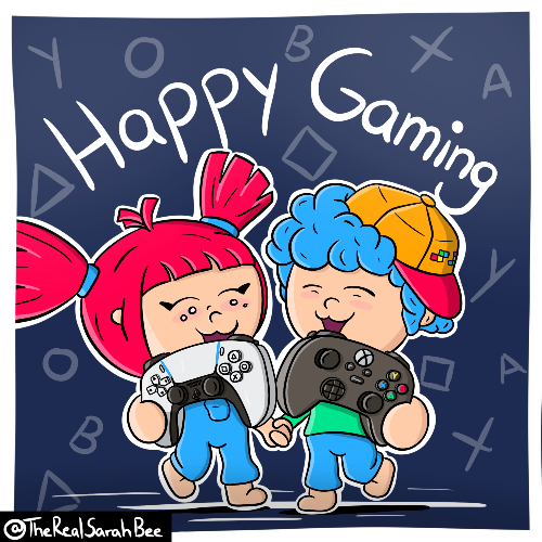 "Holly Hip #3 - ""Happy Gaming"". (Bild: @TheRealSarahBee, November 2020)"