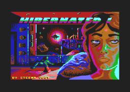 """Ganz ohne Grafik ist """"Hibernated 1 – This Place is Death"""" nun doch nicht. Der Ladebildschirm – hier von der C64-Version – sieht aber echt klasse aus … (Bild: Pond Software Ltd.)"""