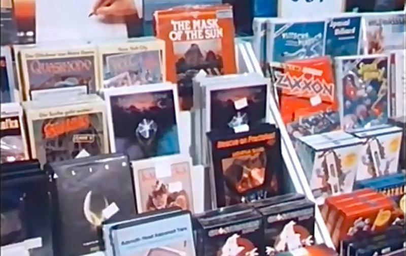 Eine Auswahl von Computerspielen in einem bundesdeutschen Kaufhaus der 1980er Jahre. (Bild: Bayerischer Rundfunk, 1983)