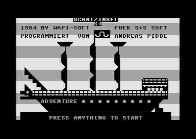 Schatzinsel 64, S+S Soft, 1984. (Bild: archive.org)