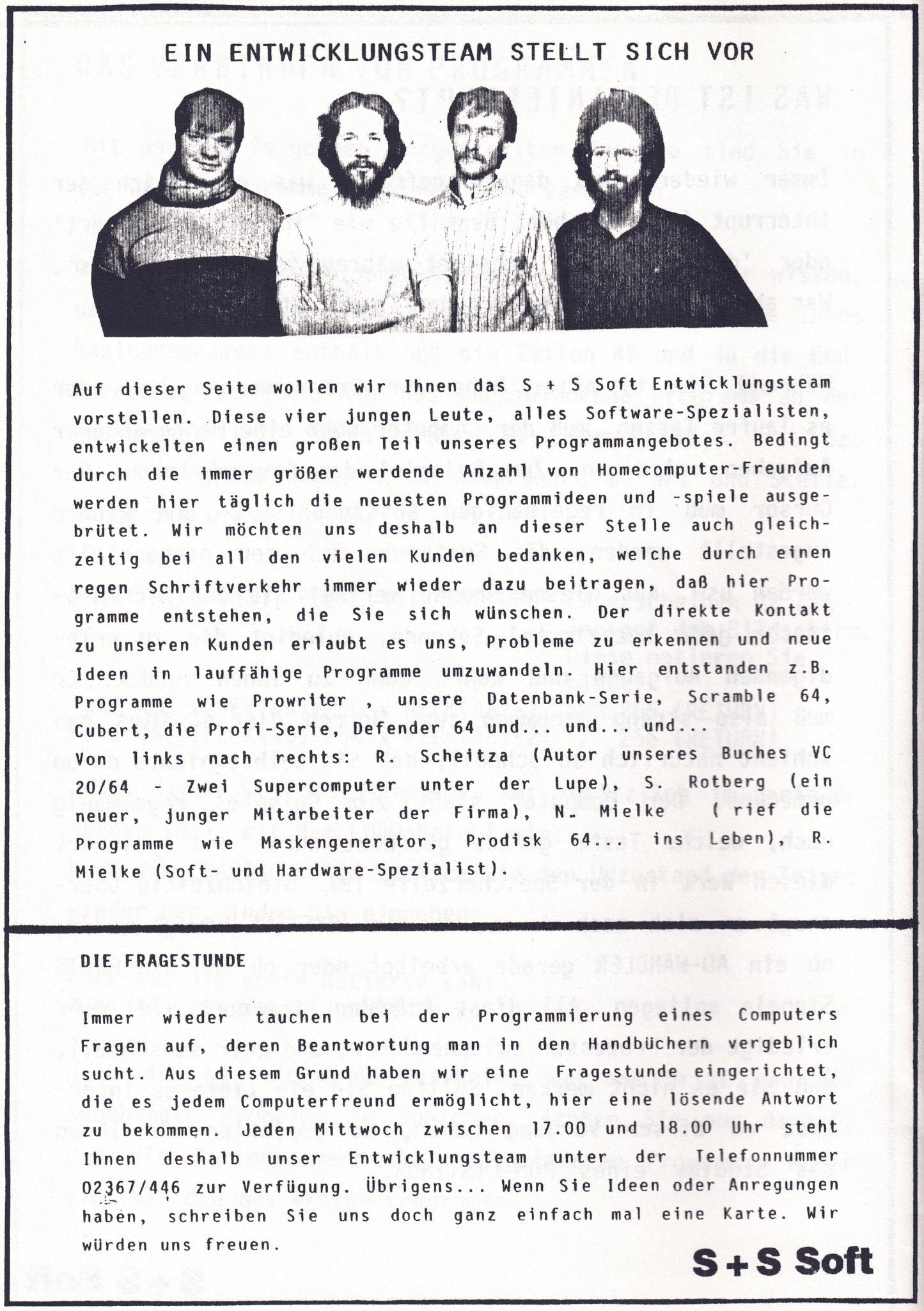 S+S Soft, DIN A5-Katalog. (Bild: André Eymann)