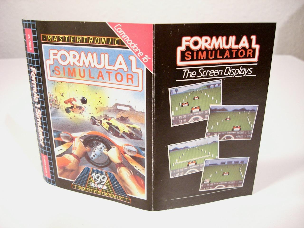 Die Anleitung der Autorennsimulation Formula One von Mastertronic für den Commodore 16. (Bild: André Eymann)