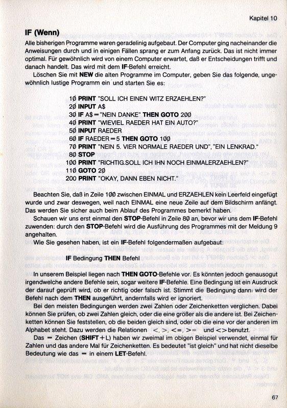 BASIC-Code für den Sinclair ZX81 von 1981. Heimcomputer waren mehr als nur Videospielkonsolen. Sie hatten in der Regel eine echte Schreibmaschinentastatur – auch wenn diese wie beim ZX Spectrum von Sinclair aus Schaumgummitasten bestand – und waren dafür vorbereitet selbst geschriebene Computerprogramme ablaufen lassen zu können. Die wohl bekannteste Computersprache hierfür war BASIC. (Bild: Sinclair)