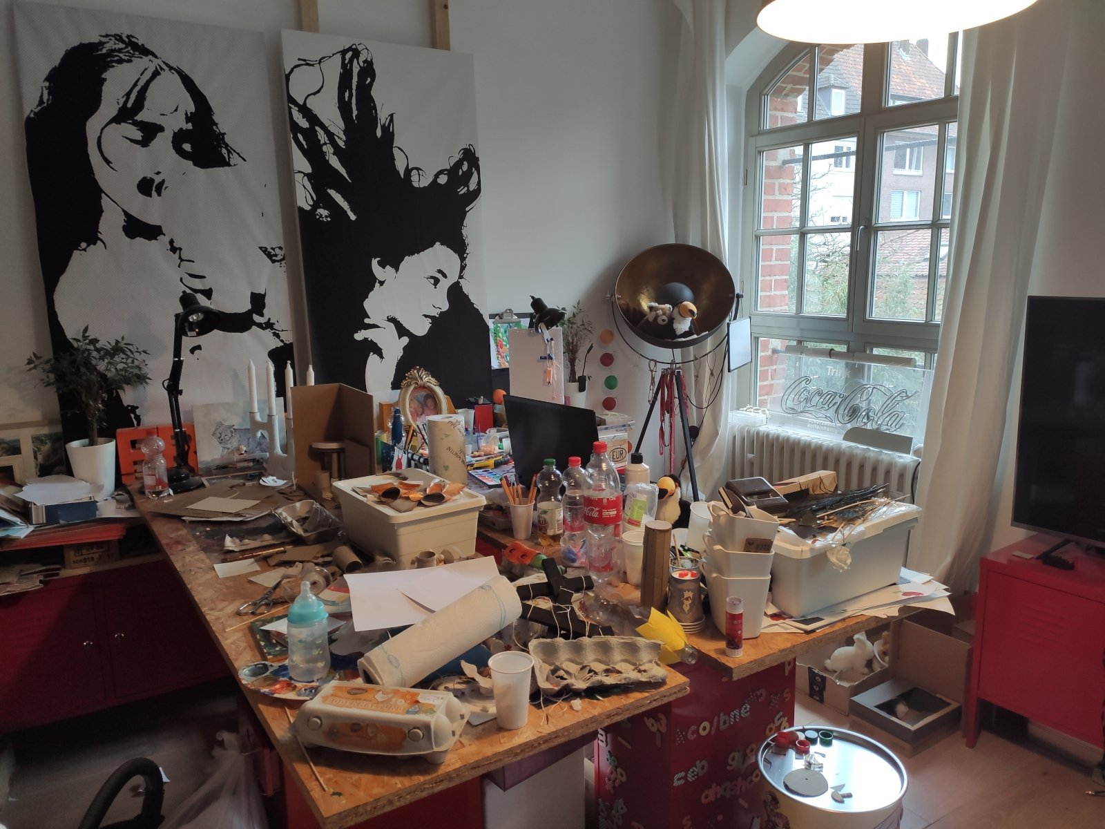 Büro im Homeoffice in Zeiten von Corona. (Bild: Ingo Stuckenbrock)