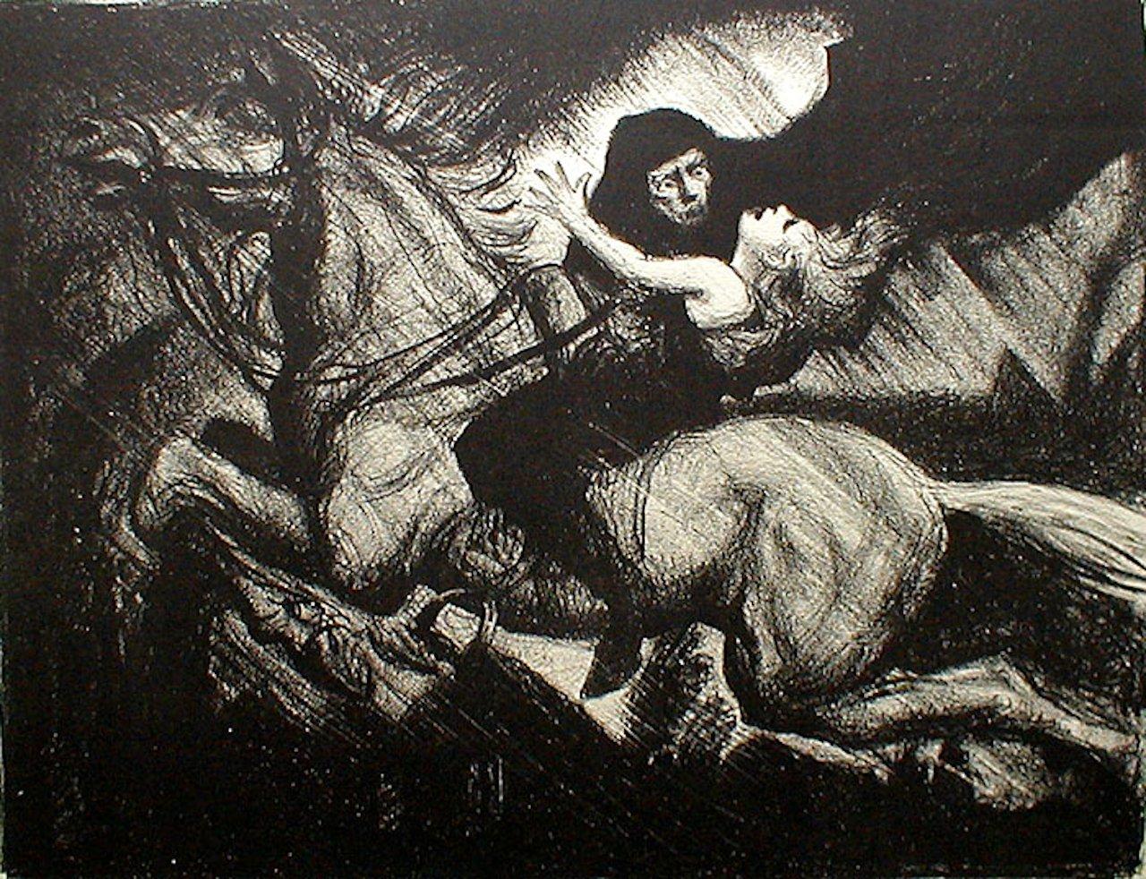 Der Erlkönig in einer Illustration von Albert Sterner. (Bild: wikiwand.com)