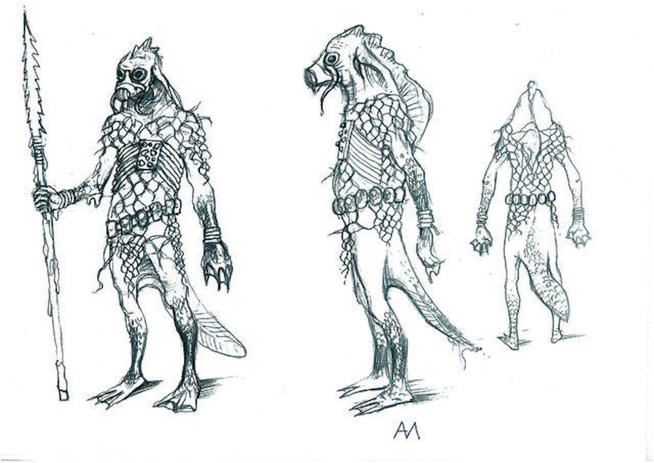 Konzeptzeichnung des Wodjanoi. (Bild: hexer.wikia.com)