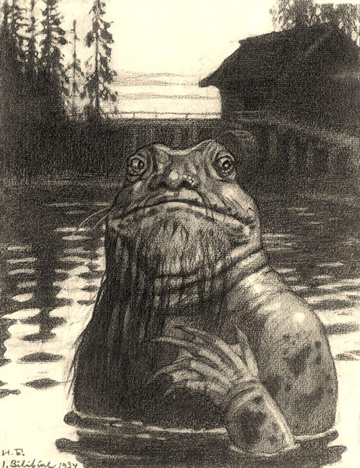 Vodyanoy von Iwan Jakowlewitsch Bilibin 1934. (Bild: Wikipedia)