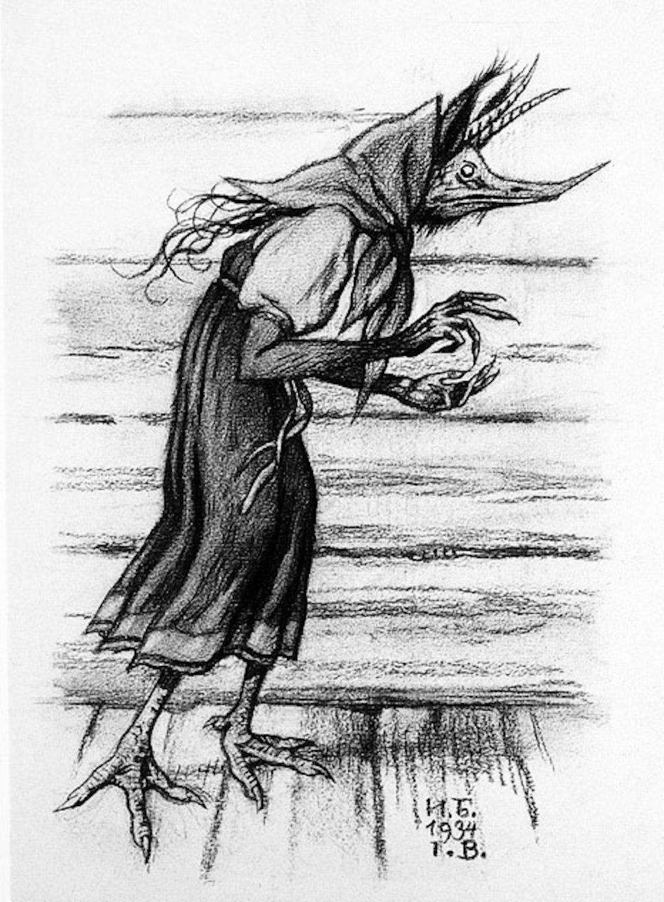 Kikimora: 1934 Illustration von Iwan Bilibin. (Bild: Wikipedia)