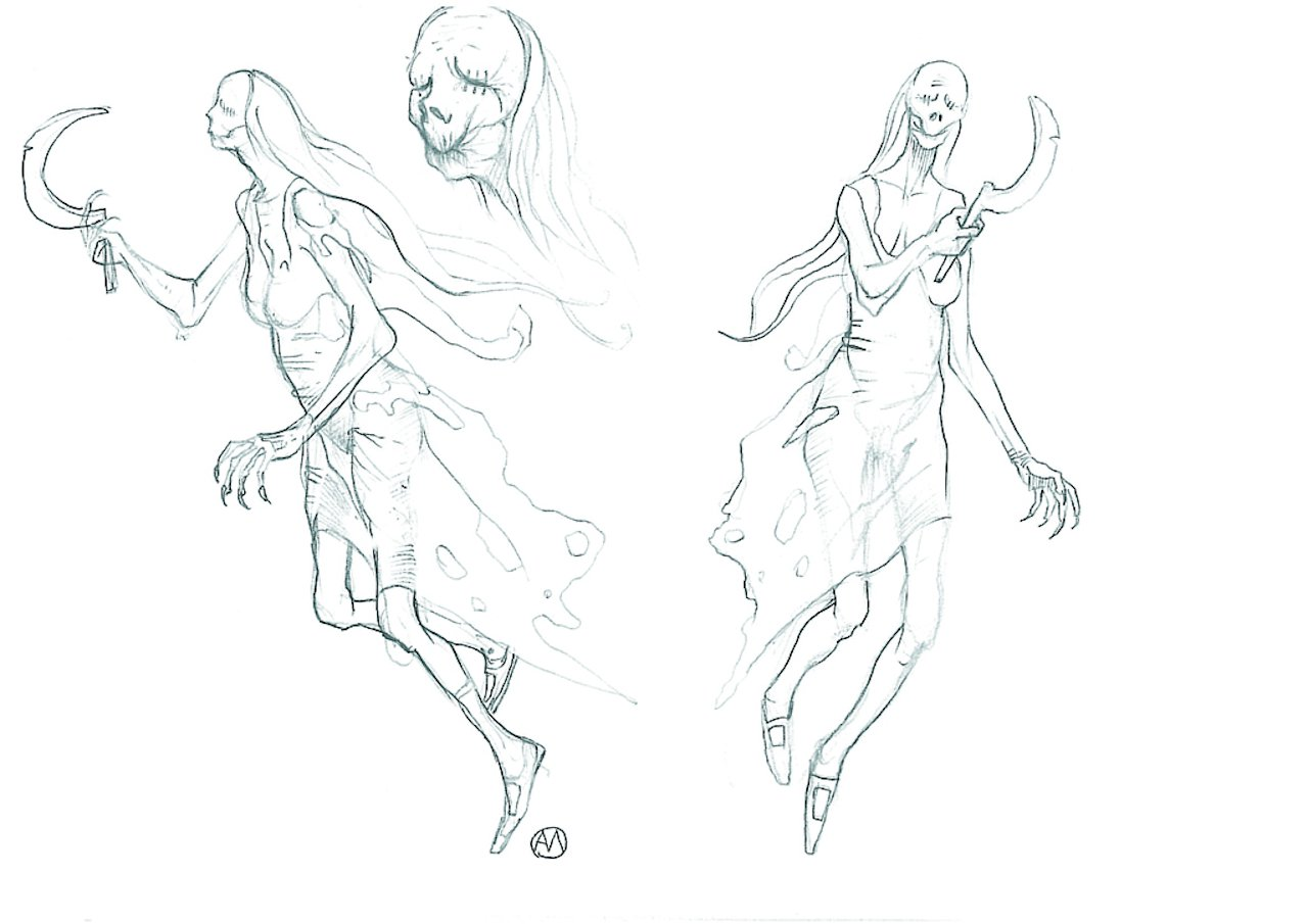 Konzeptzeichnung der Mittagserscheinung aus The Witcher 1. (Bild: hexer.wikia.com)