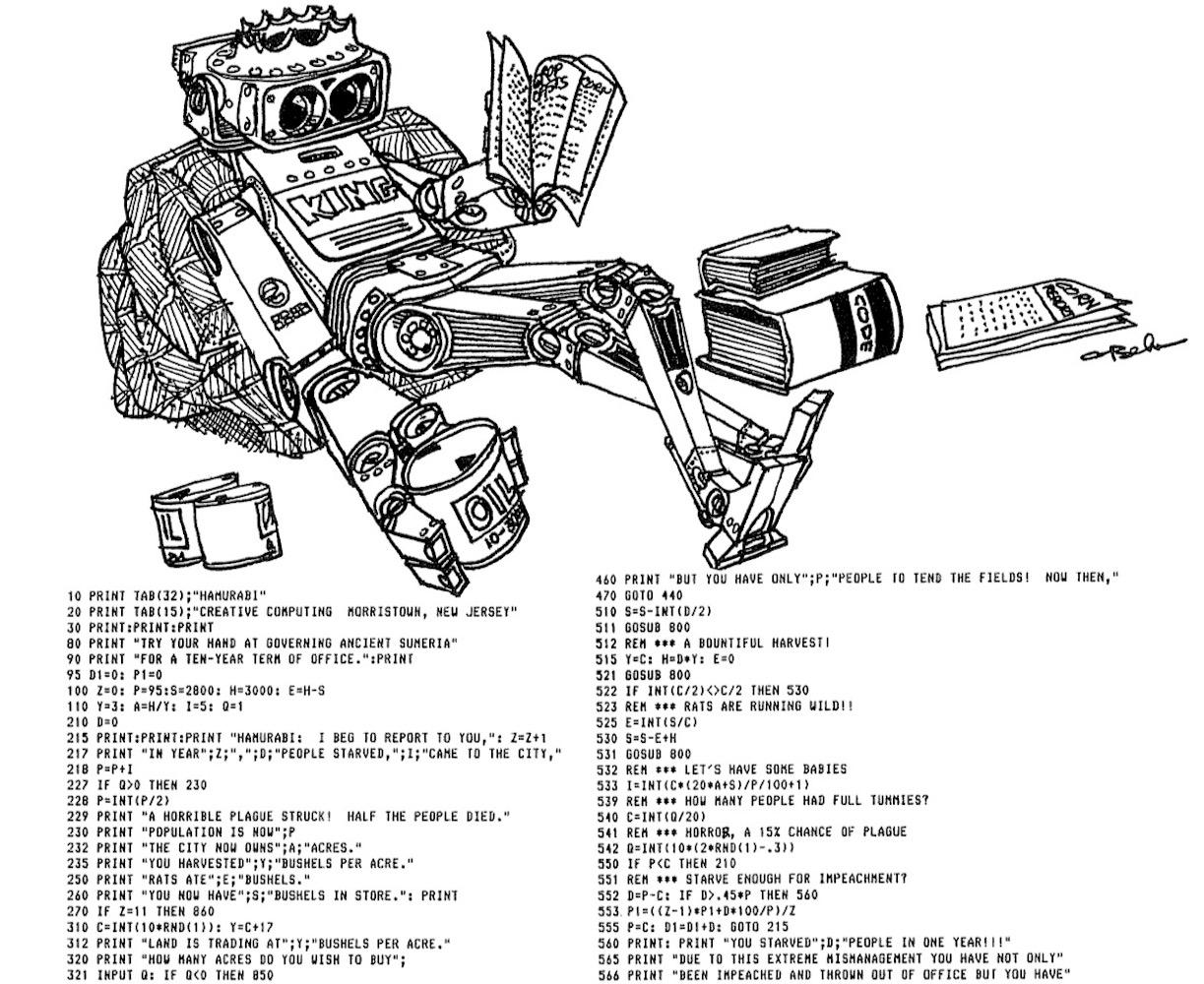 David Ahl: Basic Computer Games, Creative Computing, 1978, p.79.